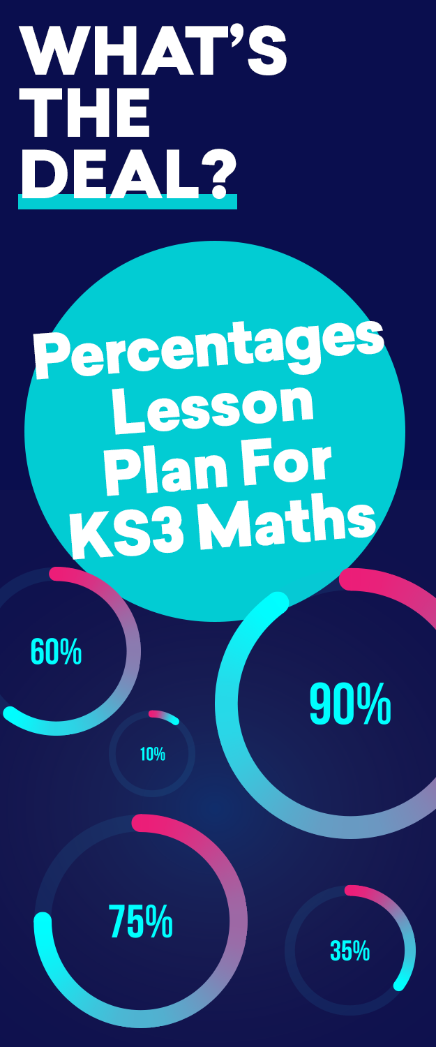 What\'s The Deal? – Percentages Lesson Plan For KS3 Maths | KS3 Maths ...