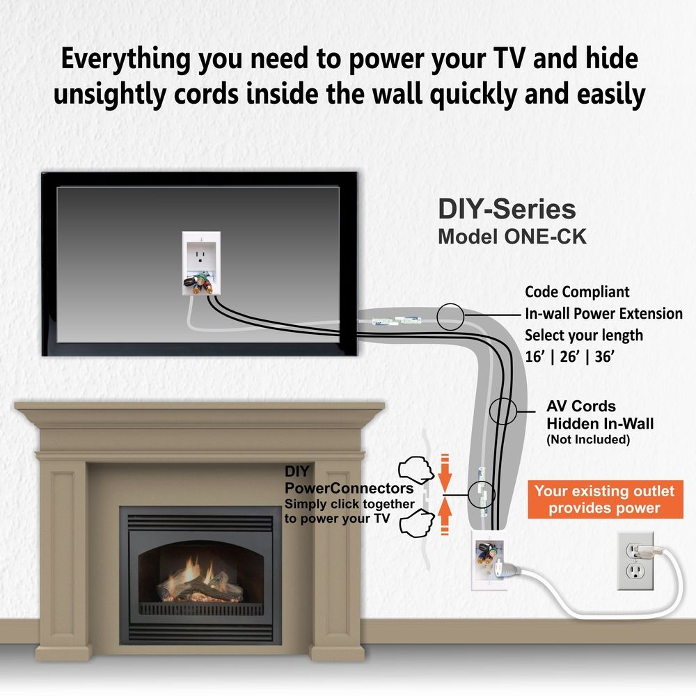 Diy Model One Ck Fireplace Extension Kit Tv Mount Over Fireplace Tv Above Fireplace Fireplace Tv Wall