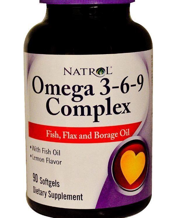 Omega 3 6 9 Complex Lemon Flavor 90 Softgels 400 Mg Dha Epa Efas Fish Flax Oil Natrol Omega Fish Oil Fish Oil Lemon Fish