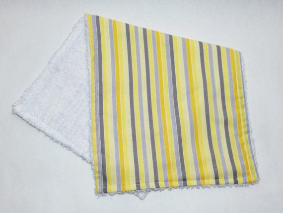 Yellow and Gray Stripes gender neutral by purposefulindulgence
