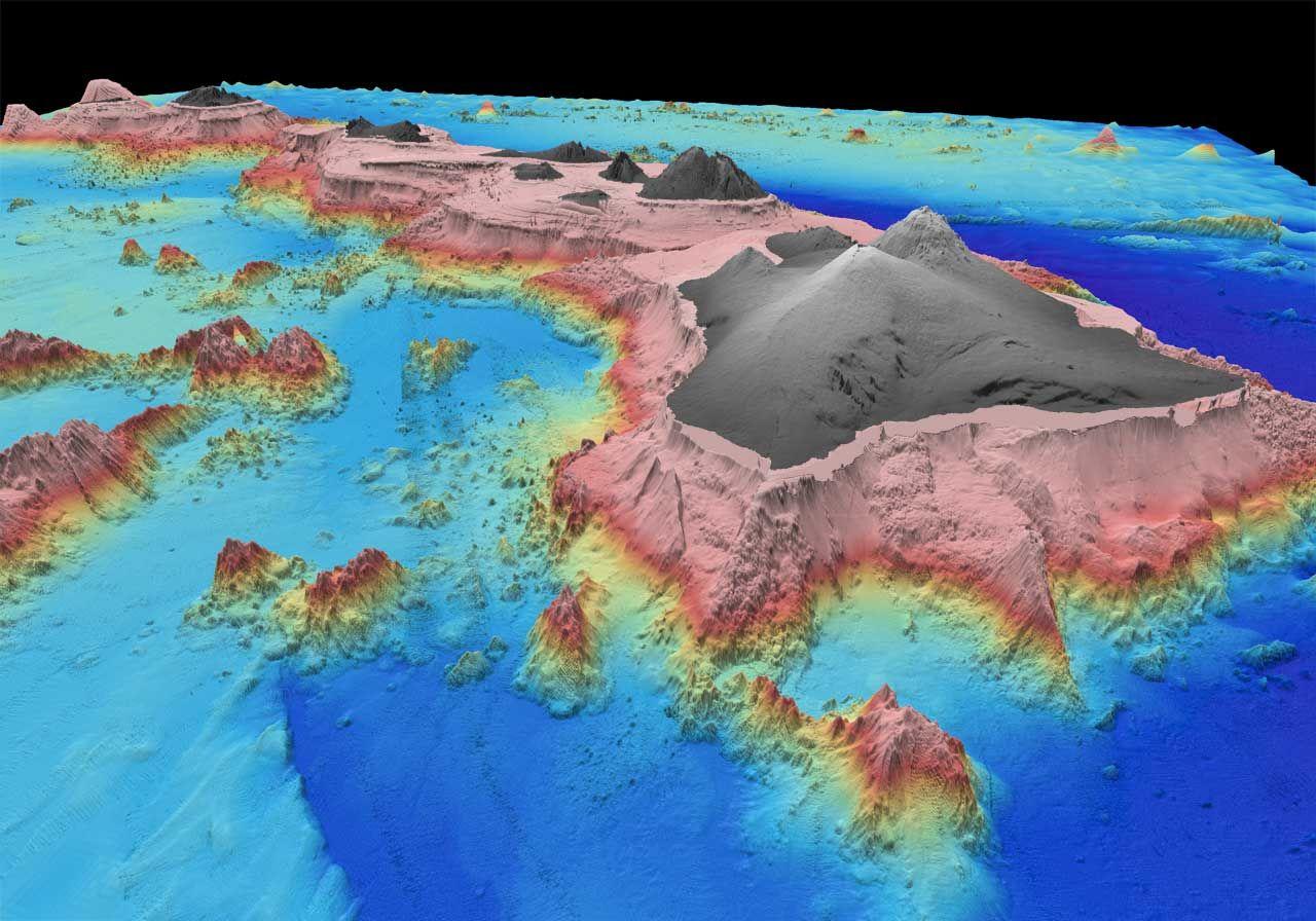 Sea-Floor Sunday #34: Hawaii bathymetry   Economics ... Pacific Ocean Underwater Map