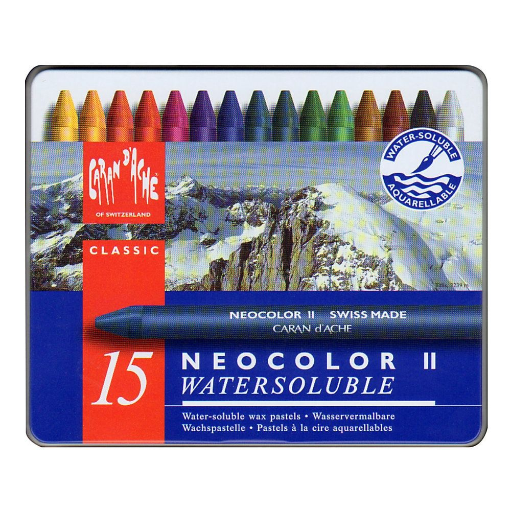 Caran D Ache Neocolor Ii Aquarelle Water Soluble Wax Pastels Set