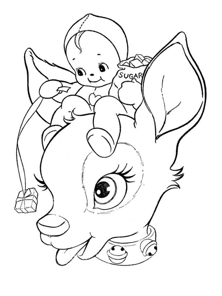 Reindeer Coloring Pages Printable Reindeer Are Animals That Are Considered To Be Very Numerous Christmas Coloring Pages Animal Coloring Pages Kawaii Christmas