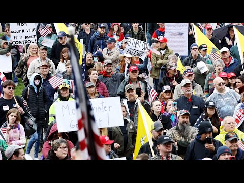 Hundreds Of Patriots Some Who Were Armed With Rifles Stormed The Michigan Capital Building Today To Protest The Governors I In 2020 Protest Michigan American Patriot