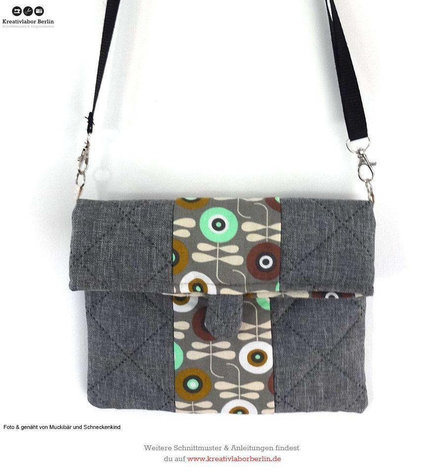 """Schnittmuster Handtasche """"Mira"""": http://www.kreativlaborberlin.de ..."""