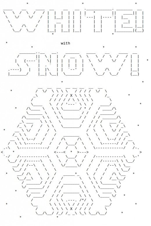 Snowflakes In Ascii Text Art Ascii Art Ascii Art Text Message
