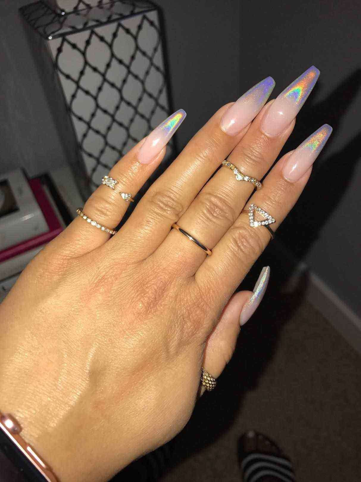 Camaxid Com Nbspcamaxid Resources And Information Acrylic Nails Coffin Holographic Nails Clear Glitter Nails