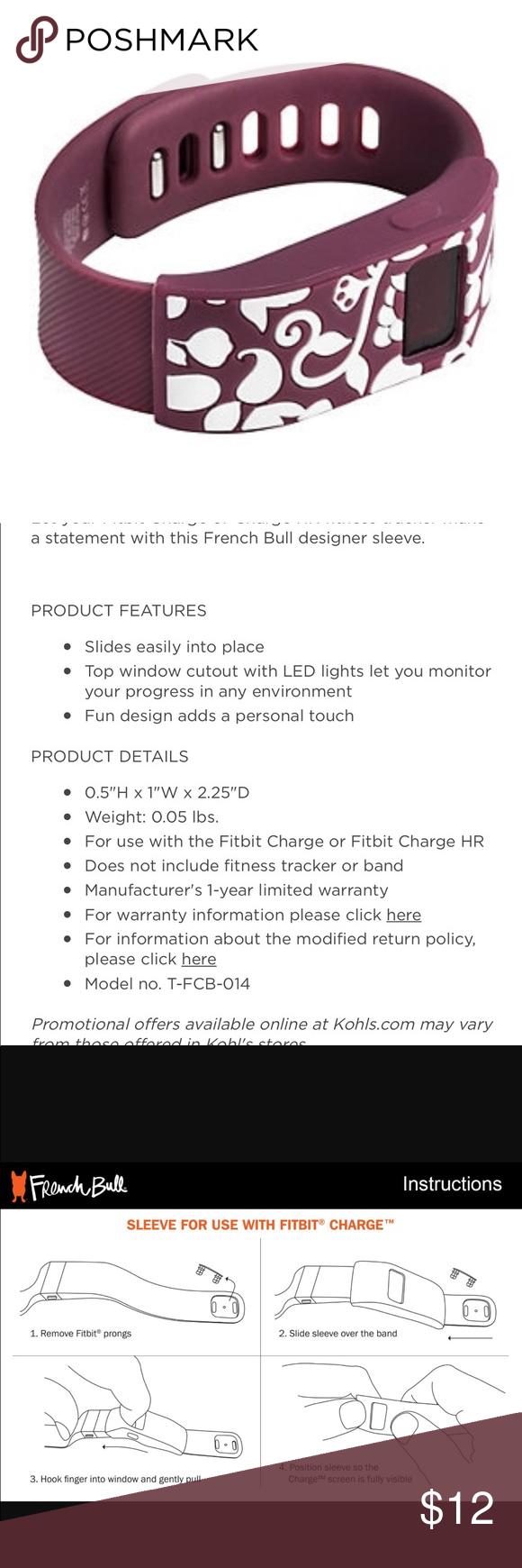 French Bull Designer Bumper For Fitbit Nwt My Posh Picks