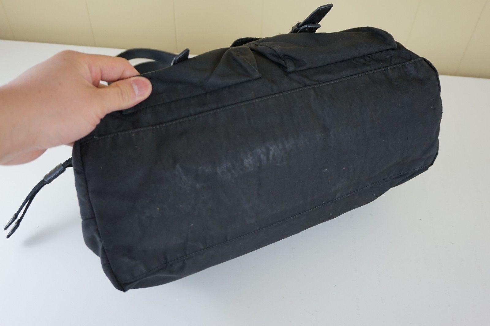 6bd5206e7633 ... australia authentic genuine prada black tessuto shoulder messenger bag  tote nylon purse 199.99 aab26 ac9ab