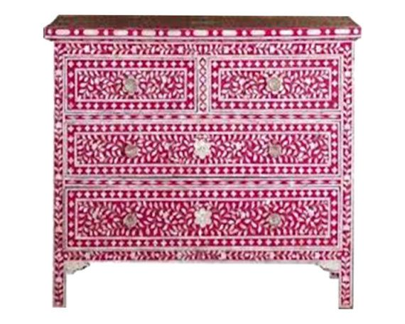 SHOP HOME DECOR NOW! Bone Inlay Furniture - Floral Moroccan Dresser Sideboard / Credenza | Free Shipping by Heathertique