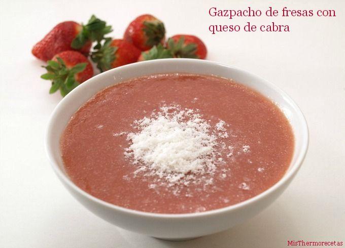 gazpacho de fresas con thermomix