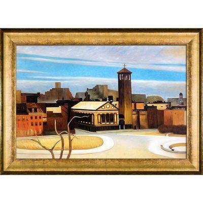 La Pastiche 'November, Washington Square, 1959' by Edward Hopper Framed Painting Print