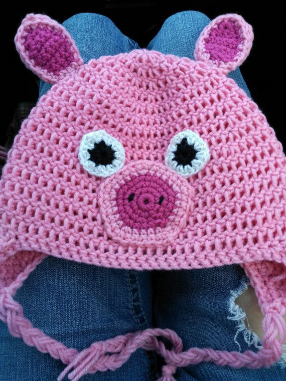 Check out this item in my Etsy shop https://www.etsy.com/listing/399385551/adult-pig-crochet-earflap-beanie