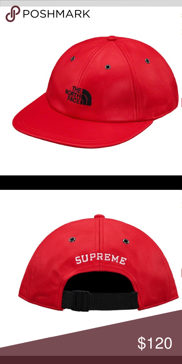 dc79b683d Supreme x The North Face leather cap Supreme The North Face 6-panel ...