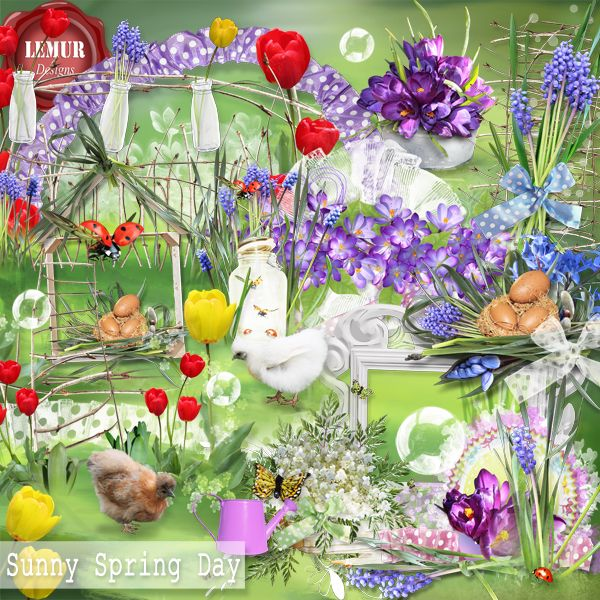 Sunny Spring Day (FS/PU) [sunnyspringday_ld] : Scrap and Tubes Store, Digital Scrapbooking Supplies