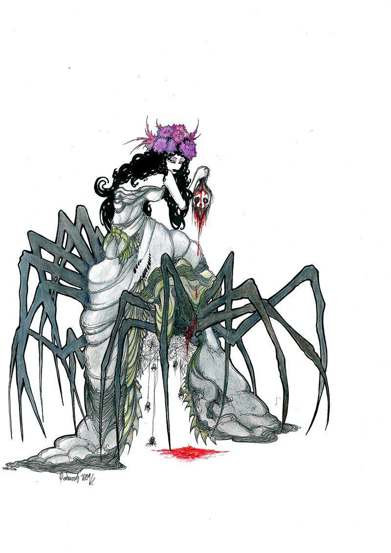 "Image result for jorogumo death drawing"""