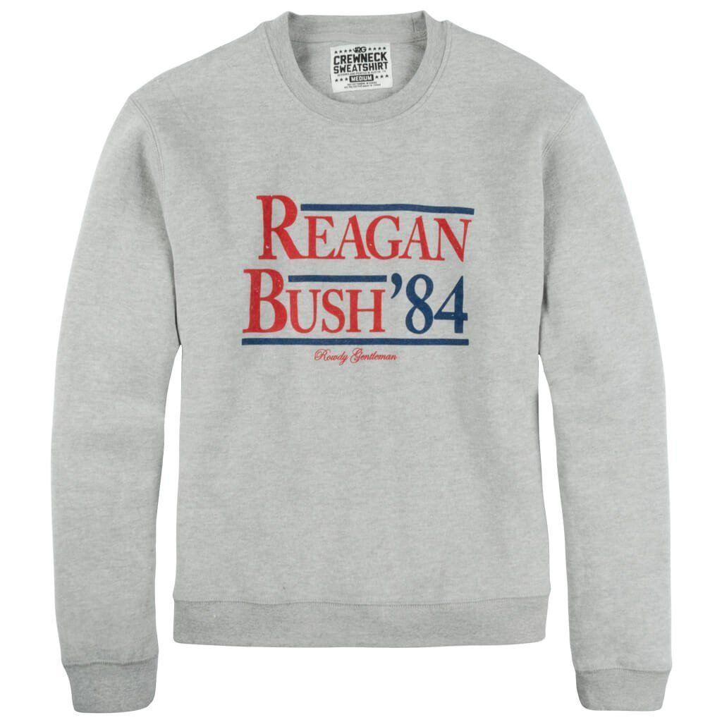 Reagan Bush 84 Crewneck Sweatshirt Crew Neck Sweatshirt