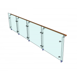 Glass balustrade sketchup models | Glass | Glass balustrade