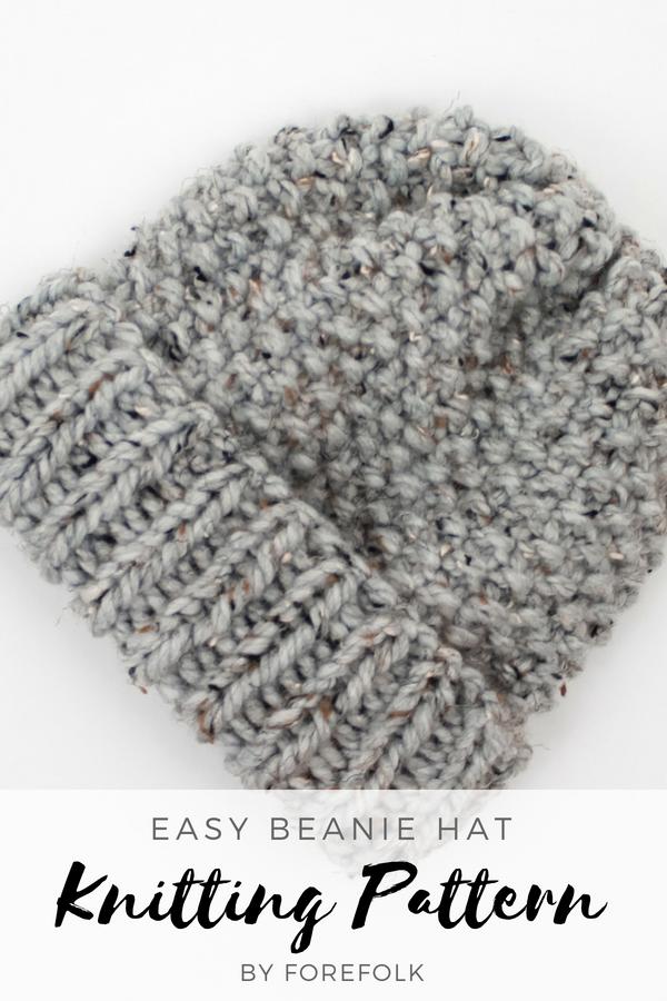390908afb9712 Easy Beanie Knitting Pattern