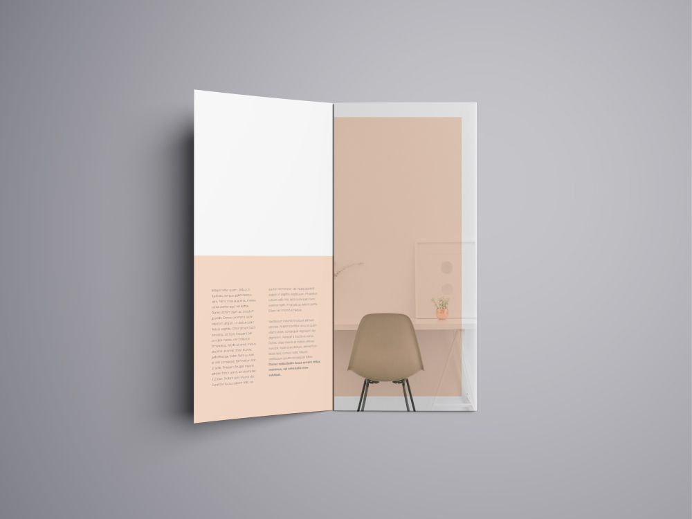Advanced A4 Trifold Brochure Mockup - Theme Raid Mock it Up - blank tri fold brochure template