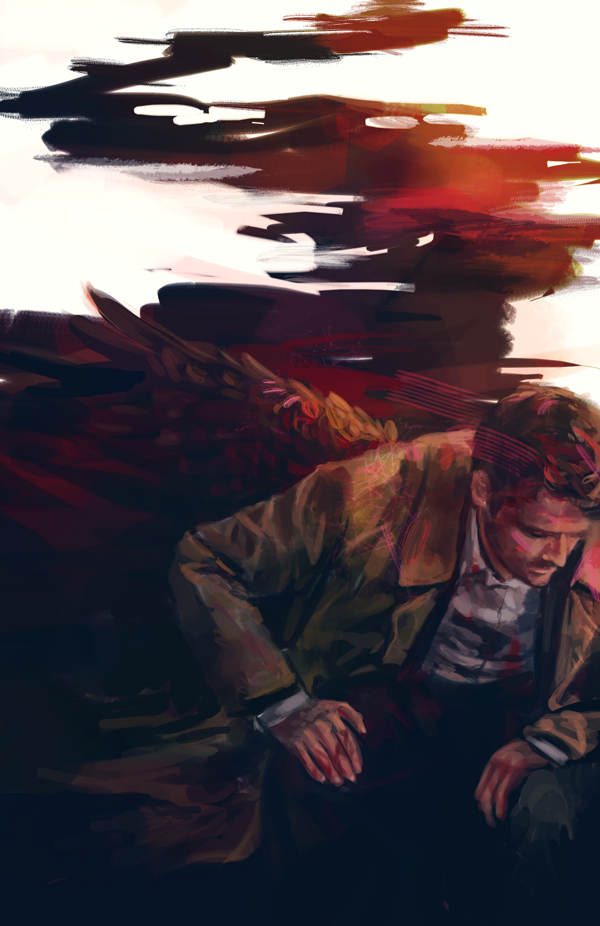 Ah, Castiel, Angel of Thursday. Today's just not you day, isn't it?