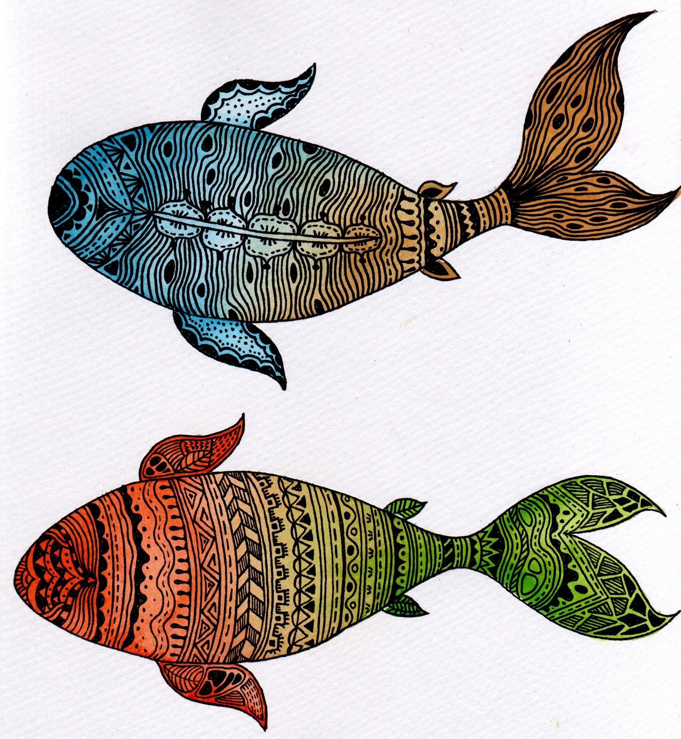 Koi- inspired by American Indian pattern