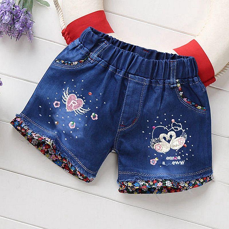 12m 6t Baby Girls Jeans Shorts Summer Cute Butterfly Pants Denim Short Pants Kids Clothes Children Clothing Baby Girl Jeans Kids Pants Kids Outfits Girls