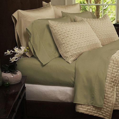 Bamboo Luxury 1800 Count 4 Piece Solid Sheet Set 8 Colors