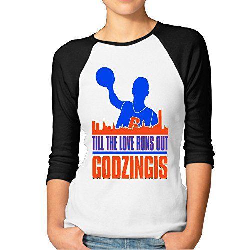 JUN Women's 3/4 Sleeve Love Runs Out Football T Shirt Black XXL >>> Check out @