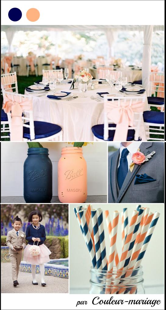 mariage en bleu marine et p che mariage mariages en bleu marine couleur mariage et table. Black Bedroom Furniture Sets. Home Design Ideas