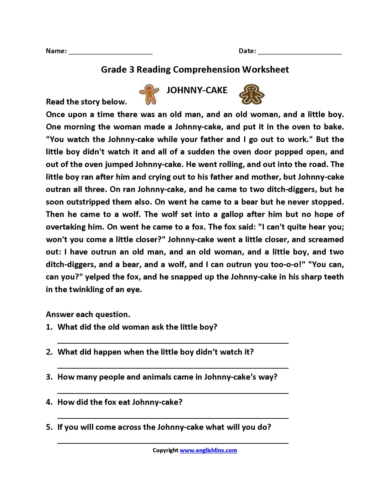 hight resolution of 3Rd Grade Ela Worksheets in 2020   Third grade reading worksheets