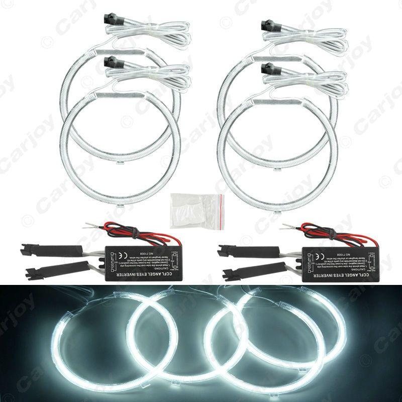 4x 127 5mm White Car CCFL Halo Rings Angel Eyes Headlights