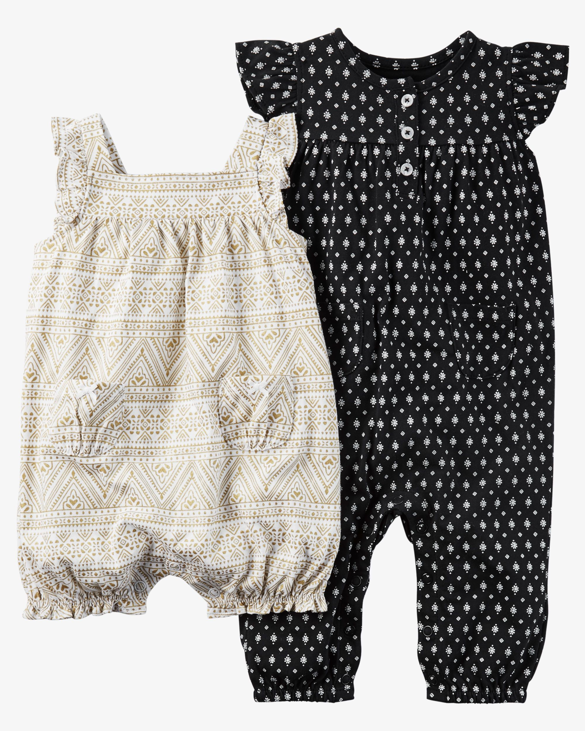 Carters Baby Girls 2-Pack Coveralls
