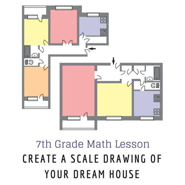This lesson will have your 7th grade class design their own dream – Scale Drawings Worksheet