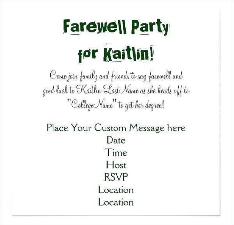 Farewell Party Invitation Email Funny
