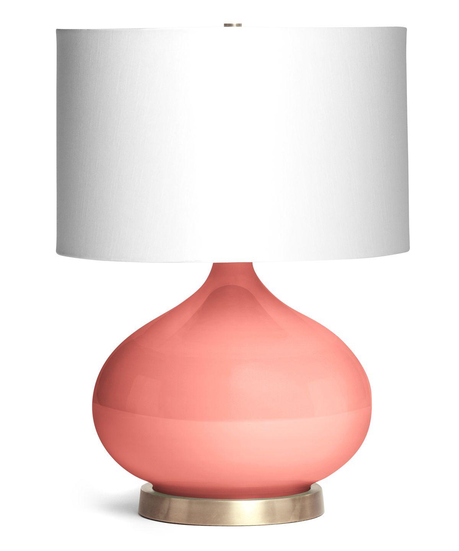 Coral Colored Lamps Photo 1 Coral Lamp Lamp Diy Lamp Shade