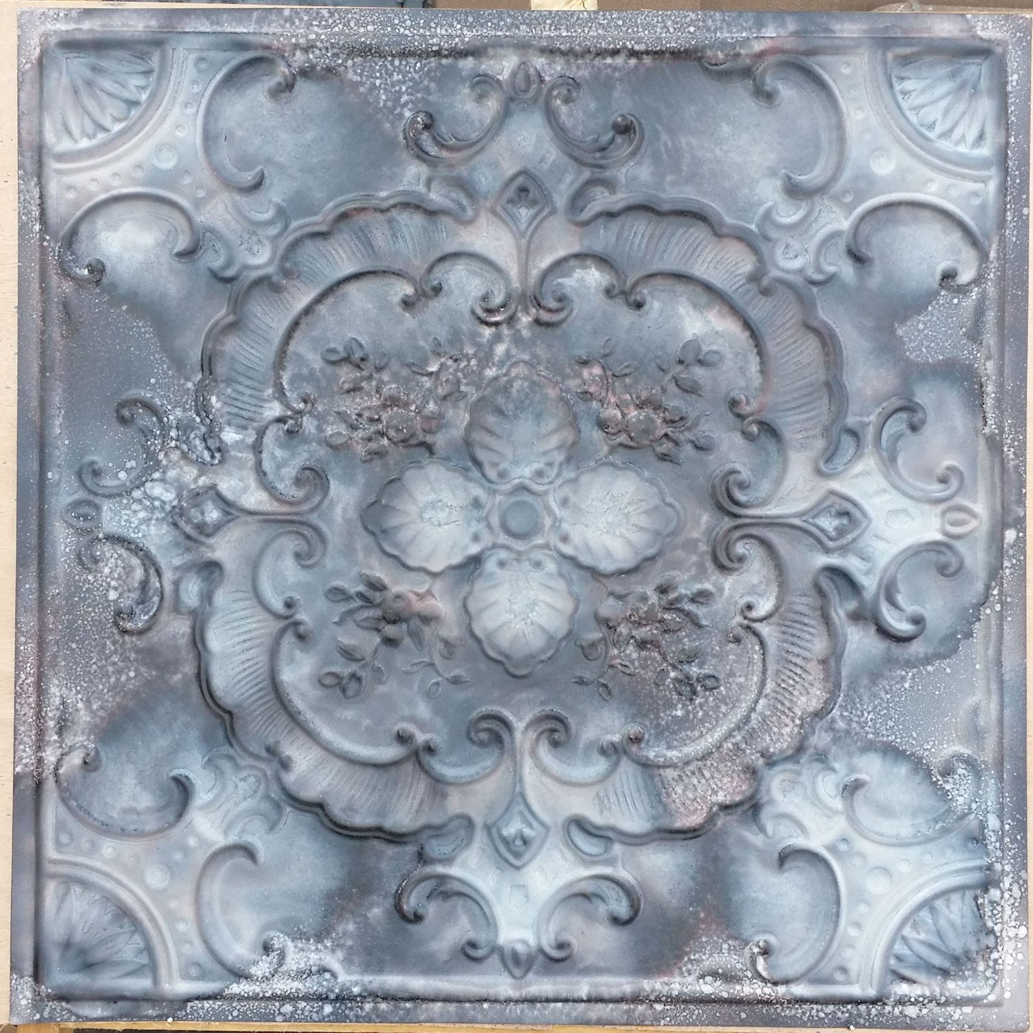 PL19 Faux tin finishes aged 3D ceiling tiles Interior wall panel