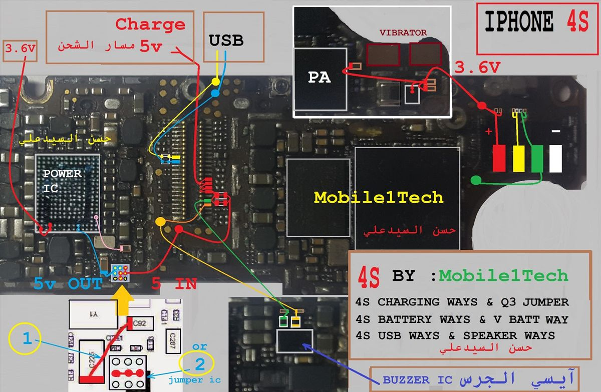 Back Of Iphone 4s Diagram Three Phase Transformer Wiring Ringer Solution Jumper Problem Ways Pinterest