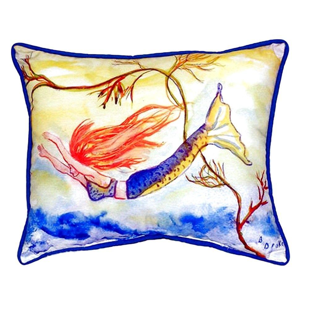 Diving Mermaid Indoor/Outdoor Lumbar Pillow