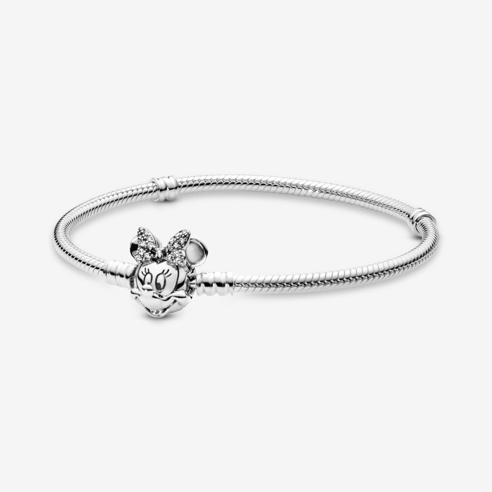 Disney Pandora Moments Pavé Minnie Mouse Clasp Snake Chain