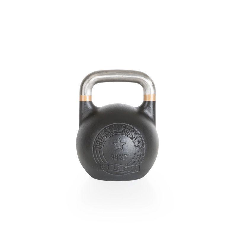 Original Russian Kettlebells - Competition - Wettkampfkettlebell 48 kg. Die Competition-Kettlebell ist besonders robust und langlebig. Der blanke, unlackierte Griff mit Farb-banding ist glatt geschliffen und gewährt ein professionelles und sicheres Handling. Details hier:: http://www.megafitness-shop.info/Kraftsport/Hanteln-Gewichte/Kettlebells/KB-Professional/Original-Russian-Kettlebell-Competition-8-48-kg--1670.html #kettlebell #kugelhantel