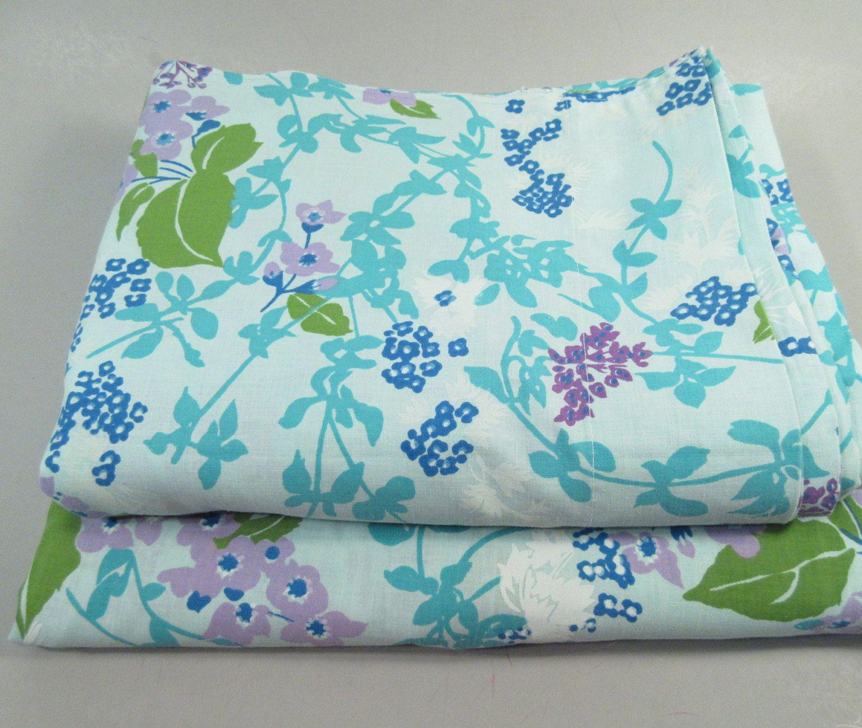 vintage full sheet sheet double sheet set full size bedding blue floral print