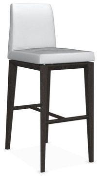 Bess Bar Stool Wenge Legs Optic White Modern Bar Stools And