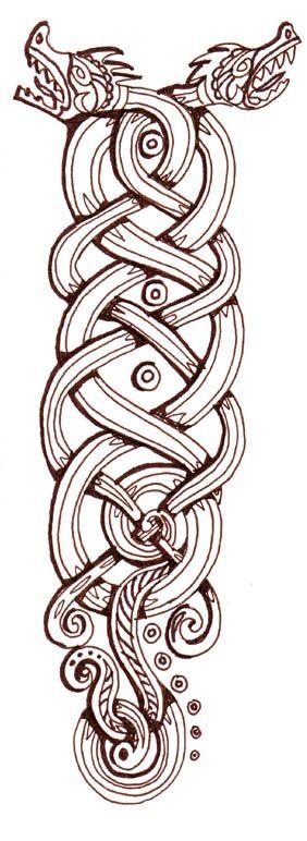 Viking Dragon Knot Celtic Dragon Viking Dragon Viking Tattoos