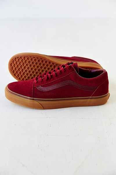 red vans old skool gum sole