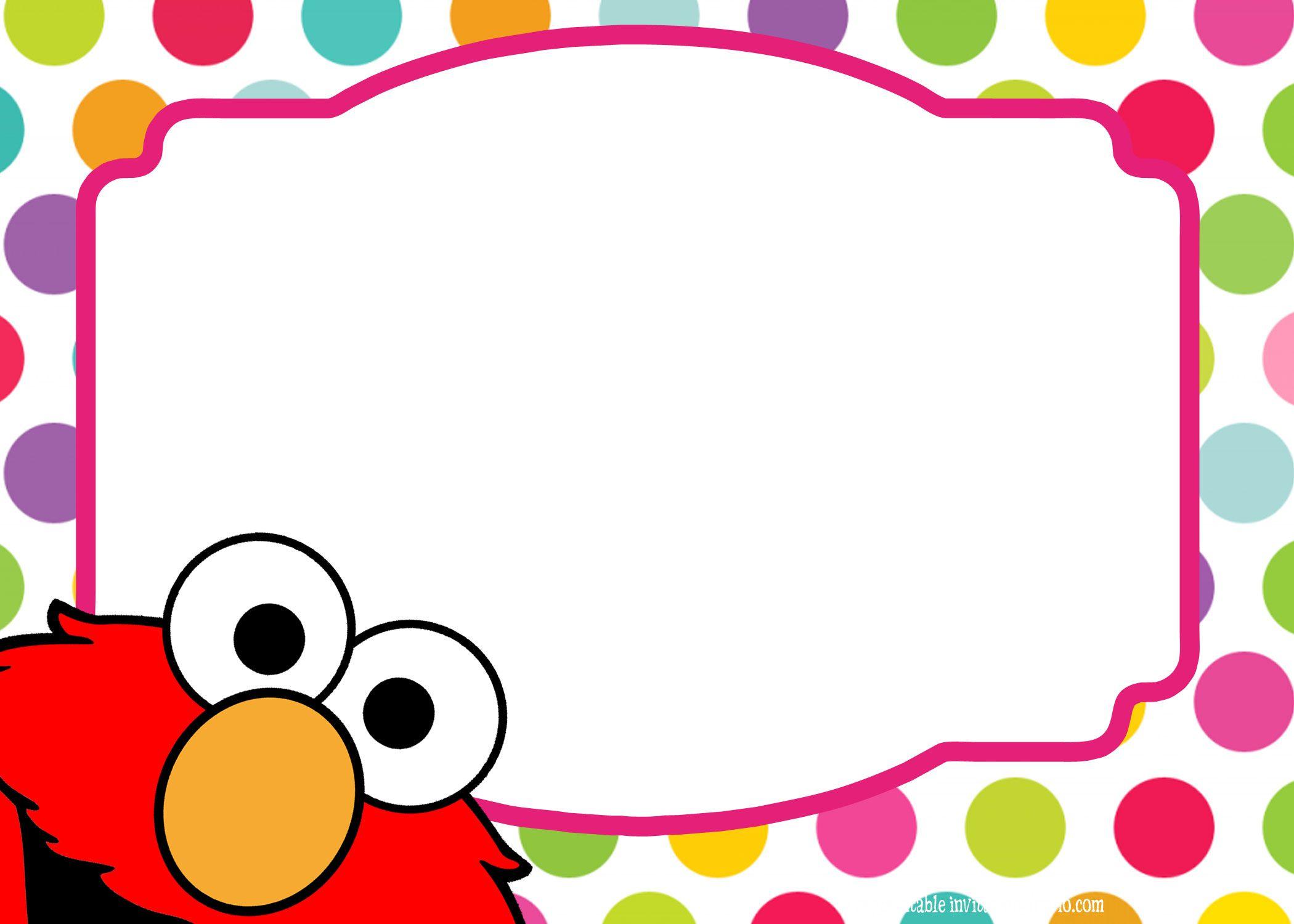 Download Sesame Street Twin Birthday Invitation Template Free - Free printable elmo birthday invitations template