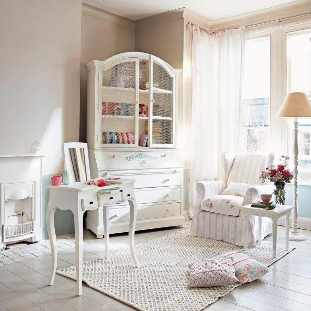 schlafzimmer ideen gestaltung-shabby-chic-weisse-vintage-moebel ...