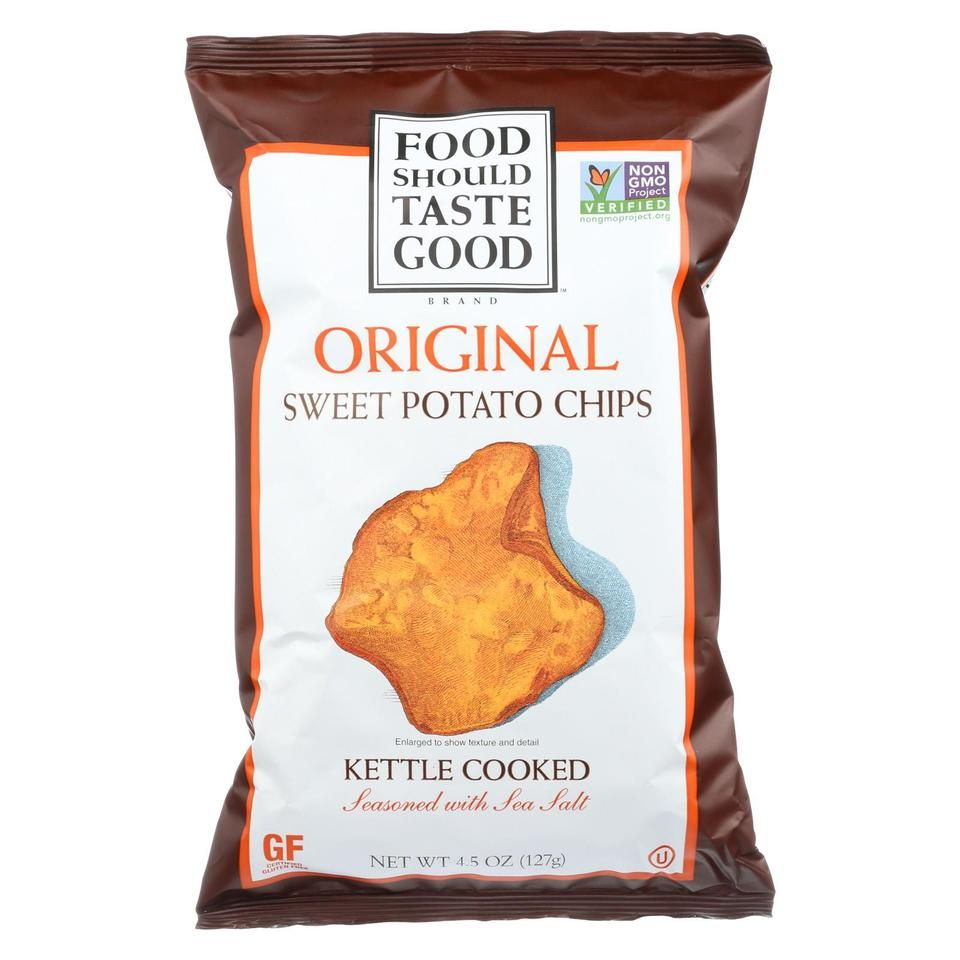 Food should taste good sweet potato tortilla chips sweet