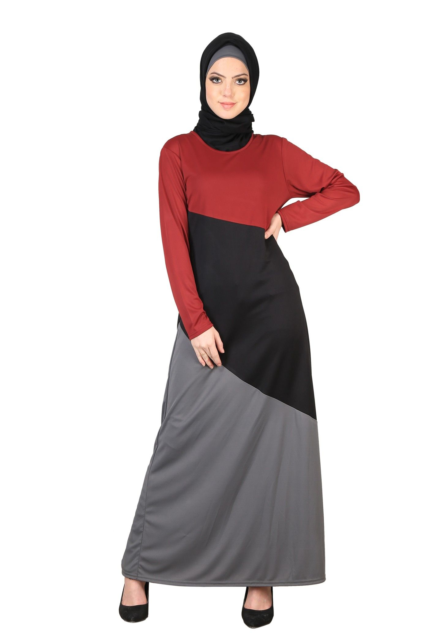 d21153ecc2c Tri-Color Women s Knit Abaya