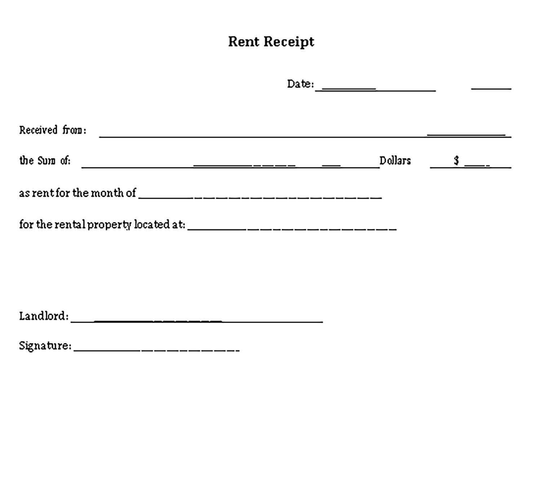 Simple Receipt Template Sample Receipt Template Templates Business Template